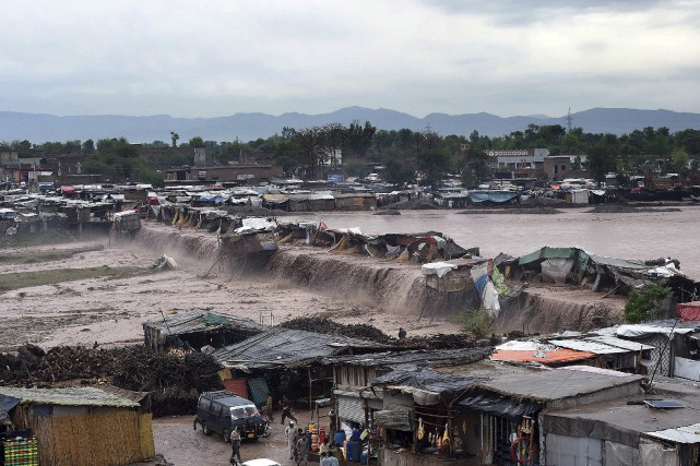 Une quarantaine de maisons ont été détruites dans... (AFP, A Majeed)