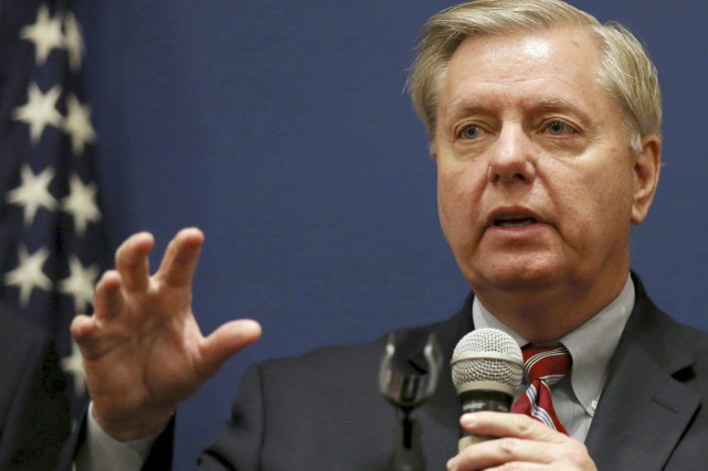 Le sénateur républicain Lindsey Graham... (PHOTO MOHAMED ABD EL GHANY, REUTERS)