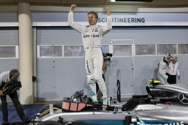 Nico Rosberg a signé une deuxième victoire en... (Associated Press)