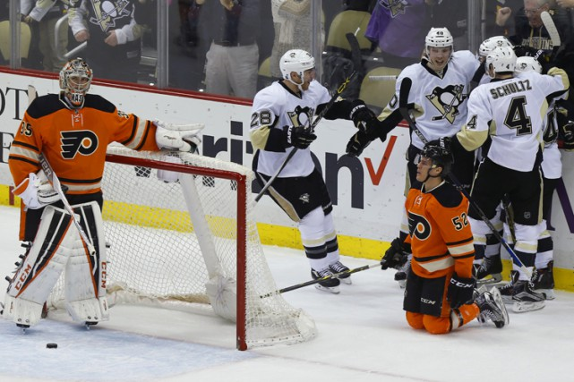 Les Penguins ont atteint le plateau des 100... (PHOTO AP)