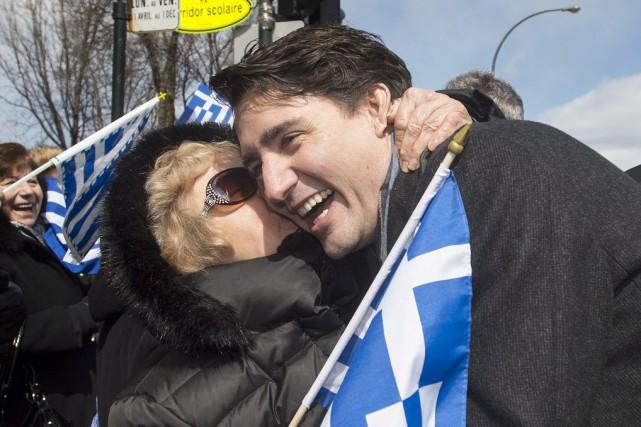 M. Trudeau a rapidement abandonné la tête du... (Photo La Presse Canadienne)