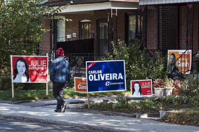 En moyenne, les candidats conservateurs ont dépensé 90... (La Presse Canadienne)