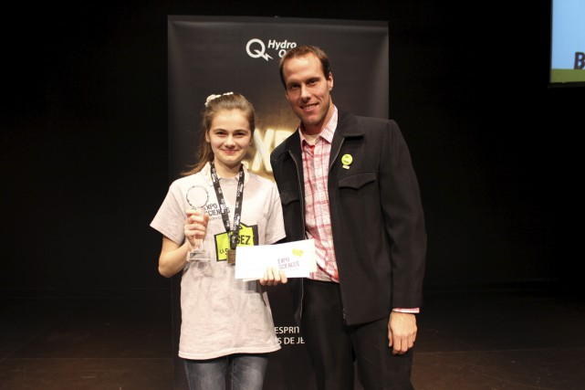 Élizabeth Lapointe de l'Institut secondaire Keranna a remporté... (Courtoisie)