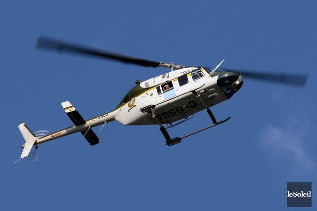 Un hélicoptère de la SQ a été demandé... (Photothèque Le Soleil, Patrice Laroche)