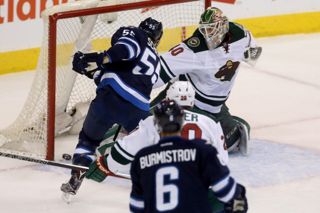 Mark Scheifele a inscrit son 27e but de la saison et les Jets de Winnipeg ont... (PHOTO PC)