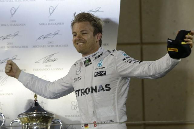 Nico Rosberg a remportésa 16evictoire en F1, dont... (AP, Luca Bruno)