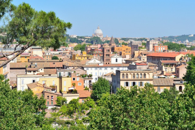 Vue sur Rome... (PHOTO THINKSTOCK)