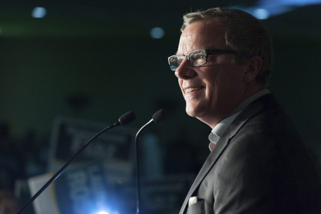 Brad Wall... (Photo Michael Bell, La Presse Canadienne)