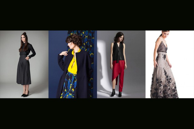 Quelques créations présentées à Fashion Preview... (PHOTOS FOURNIES PAR JENNIFER GLASGOW, LEINAD BEAUDET, KQK ET CLAUDETTE FLOYD)