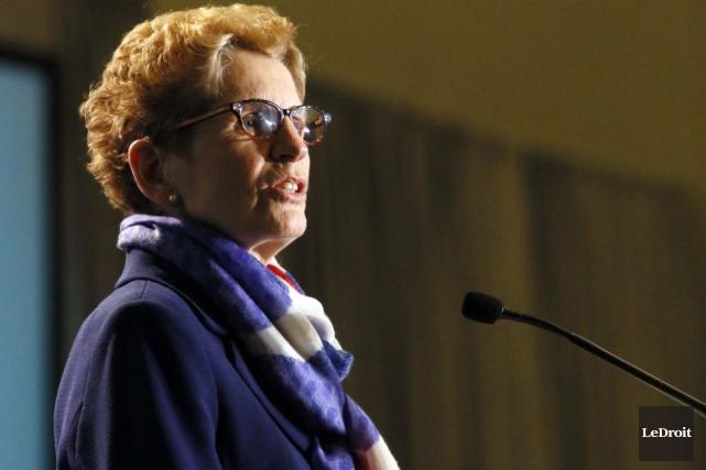 La premiere ministre de l'Ontario Kathleen Wynne.... (Photo Simon Séguin-Bertrand, Le Droit)