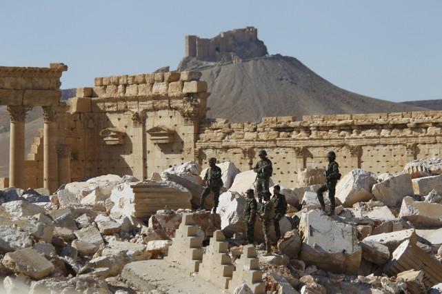 La cité antique de Palmyre, en Syrie, vient... (PHOTO OMAR SANADIKI, REUTERS)