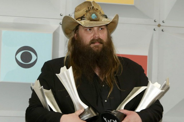Chris Stapleton a remporté quatre prix aux Country... (PHOTO REUTERS)