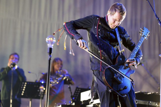 Jon Thor Birgisson, guitariste et chanteur du groupe Sigur... (PHOTO ARCHIVES AFP)