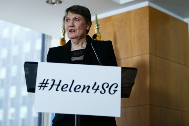 Helen Clark veut rendre l'ONU plus efficace, face... (PHOTO AFP)