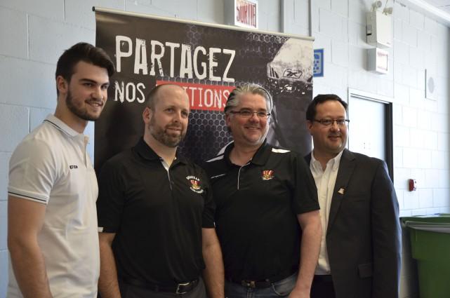Martin Bernard (deuxième à gauche) a été nommé... (fournie par le Drakkar)