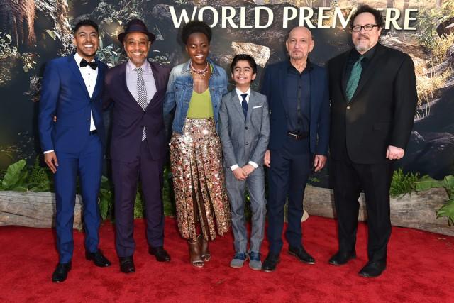 Les acteurs Ritesh Rajan, Giancarlo Esposito, Lupita Nyong'o,... (PHOTO AP)