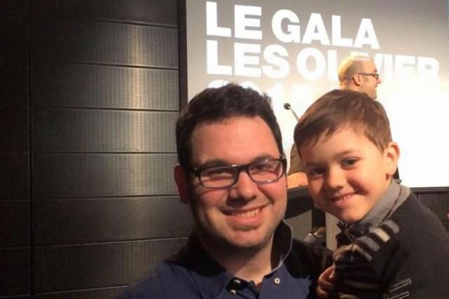 Jean-Denis Scott et son fils Olivier, lors du... (Courtoisie)