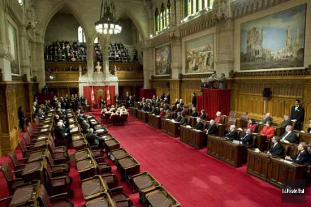 Le Sénat compte 104sièges. Le premier ministre Justin... (PHOTO ARCHIVES LA VOIX DE L'EST)