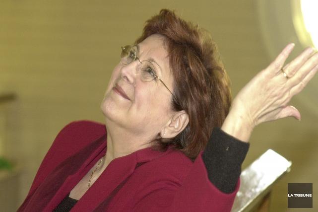 La comédienne Rita Lafontaine s'est envolée pour un... (Archives, La Tribune)