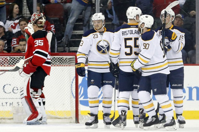 Ryan O'Reilly a enfilé son 21e but de la saison et les Sabres de Buffalo ont... (PHOTO AP)