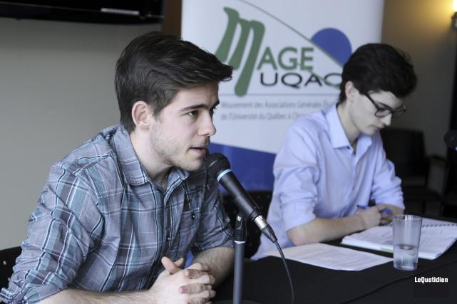 Steeve Boudreau, représentant des étudiants du Cégep de... (Photo Le Quotidien, Mariane L. St-Gelais)