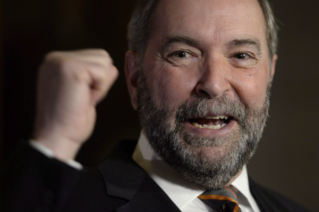 Le chef du NPD, Thomas Mulcair... (Adrian Wyld, Archives PC)