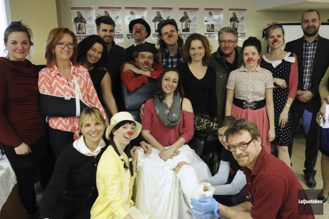Les Clowns thérapeutiques Saguenay ont présenté, mardi, les... (Photo Le Quotidien, Mariane L. St-Gelais)
