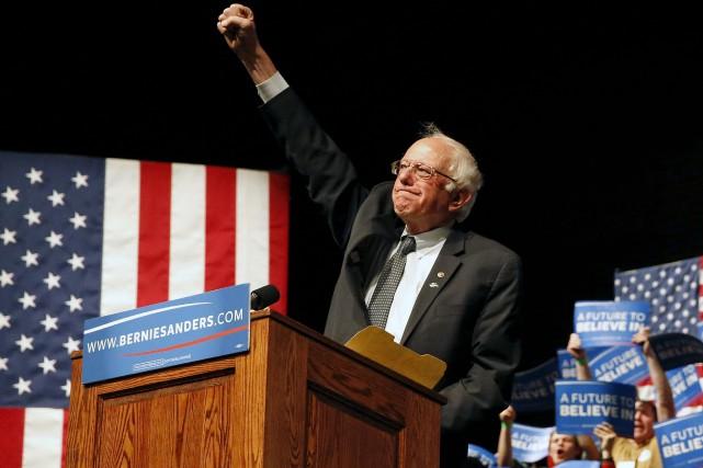 Le sénateur indépendant du Vermont, Bernie Sanders, a... (AP, Brennan Linsley)