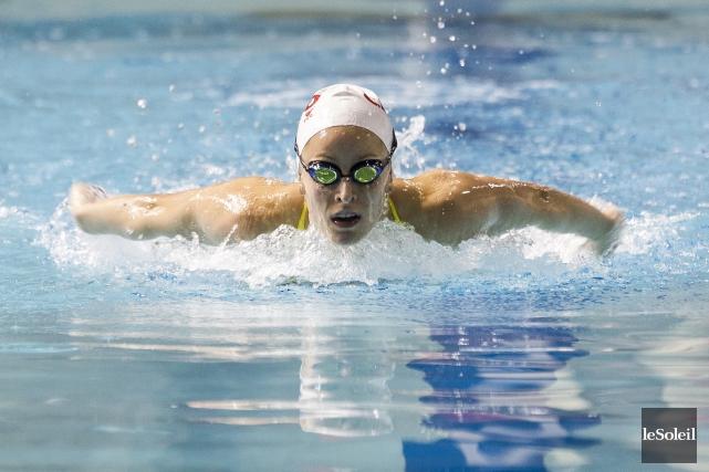 La nageuse de Pont-Rouge Katherine Savard, favorite pour... (Photothèque Le Soleil)