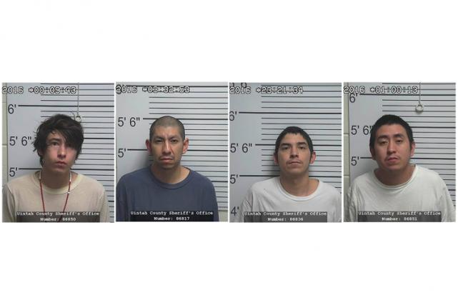 Les quatre agresseurs présumés :Josiah RonDeau, Larson RonDeau,... (PHOTO REUTERS)