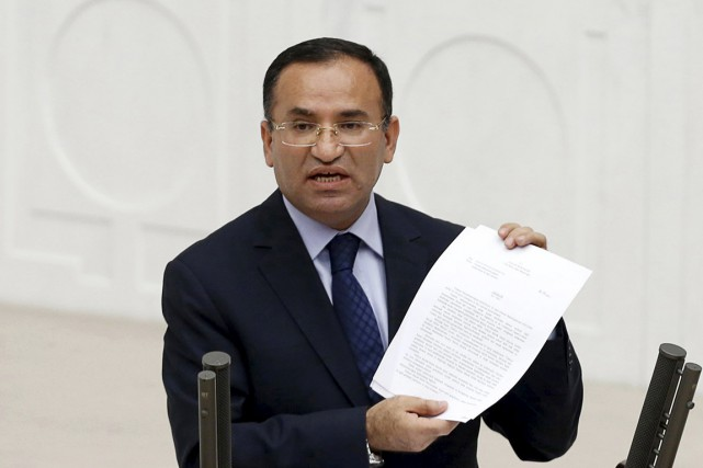 Le ministre de la Justice Bekir Bozdag avait... (PHOTO UMIT BEKTAS, ARCHIVES REUTERS)