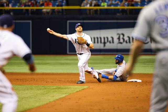 Le nouveau règlement du baseball majeur sur les doubles jeux a soudainement un... (Photo Will Vragovic, AP)