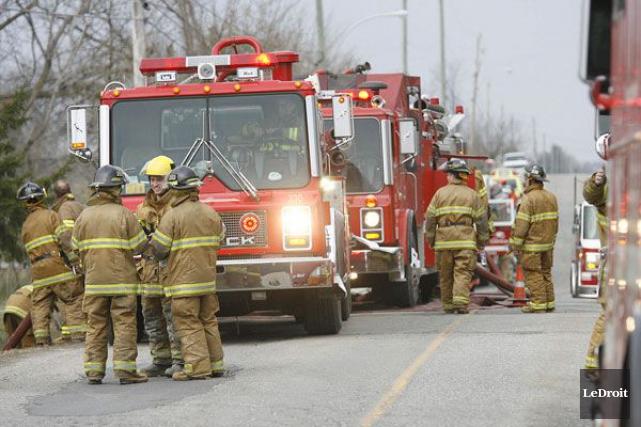 L'incendie s'est déclaré dansle quai de chargement du... (Archives, LeDroit)