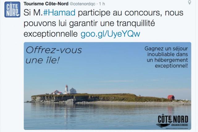 Un employé de Tourisme Côte-Nord a été suspendu mercredi pour avoir offert au...