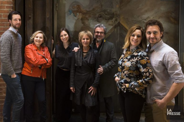 Emmanuel Schwartz, France Castel, Isabelle Blais, Lorraine Pintal,... (PHOTO OLIVIER PONTBRIAND, LA PRESSE)