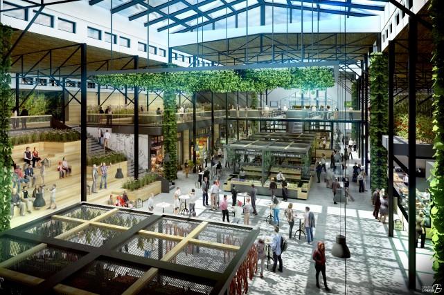 Le futur marché public d'ExpoCité sera grand, lumineux, il «sentira les épices»... (Maquette fournie par Lemay Michaud Architecture Design)
