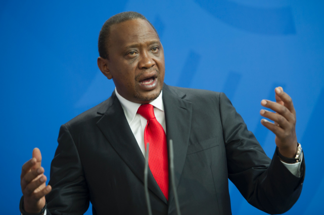 Le président du Kenya, Uhuru Kenyatta.... (Photo Steffi Loos, AFP)