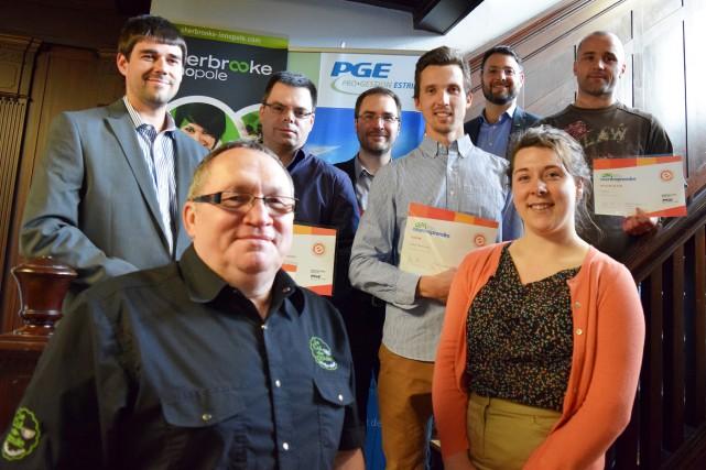 Les six lauréats locaux du volet Création d'entreprise... (Photo fournie)