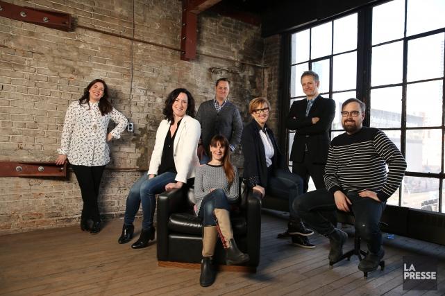 Marie-Claude Beaucage, Marie-Pierre Duval, Carole-Andrée Laniel (assise à... (PHOTO MARTIN CHAMBERLAND, LA PRESSE)