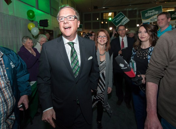Brad Wall... (Photo La Presse Canadienne)