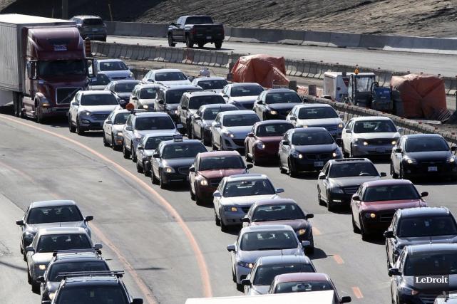 Une étude sur les causes de la congestion... (Etienne Ranger, Archives LeDroit)