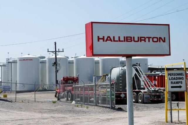 Les résultats d'Halliburton étaient salués à Wall Street,... (PHOTO AFP)