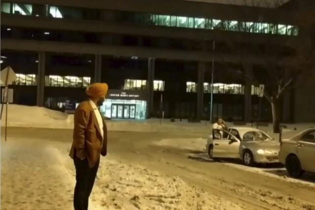 Les radios, Régis Labeaume, Donald Trump... les boucs... (Image tirée d'une vidéo de CTV NEWS)