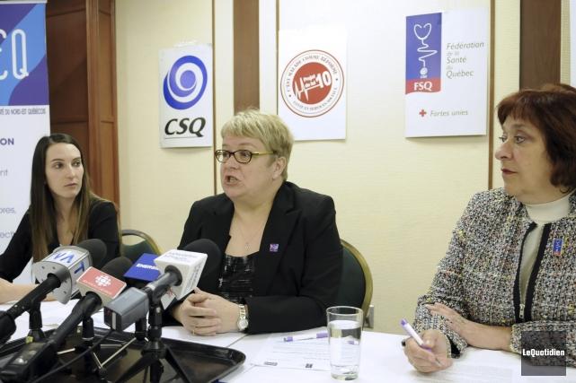 La présidente du Syndicat des intervenantes et intervenants... (Photo le quotidien Mariane L. St-gelais)