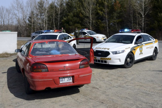 Un automobiliste a tenté de semer les policiers,... (COLLABORATION SPÉCIALE, ÉRIC BEAUPRÉ)