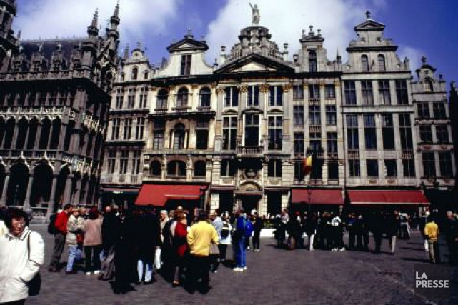 La Grand-Place deBruxelles à l'époque où les touristes... (Archives La Presse)