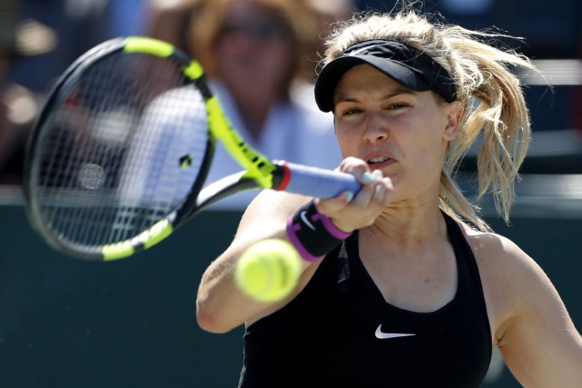 Eugenie Bouchard... (AP, Mic Smith)