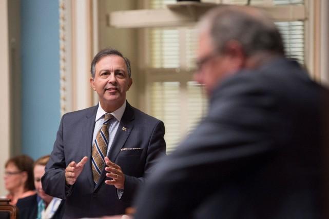 Le président du Conseil du trésor Sam Hamad... (PHOTO PC)