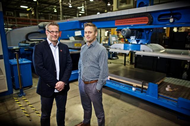 Yves Chabot, président de Stelpro, et François Séguin,... (PhotoAndré Pichette,La Presse)