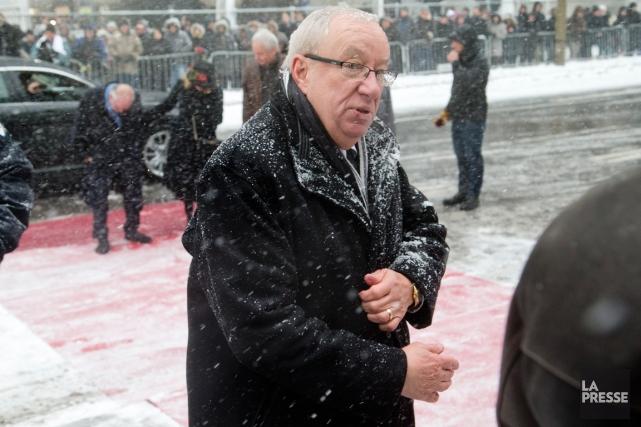 Jacques Demers lors des funérailles de Jean Béliveau... (Photo David Boily, archives La Presse)